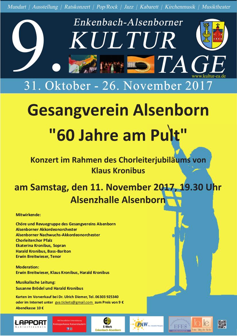 Plakat 60 Jahre am Pult