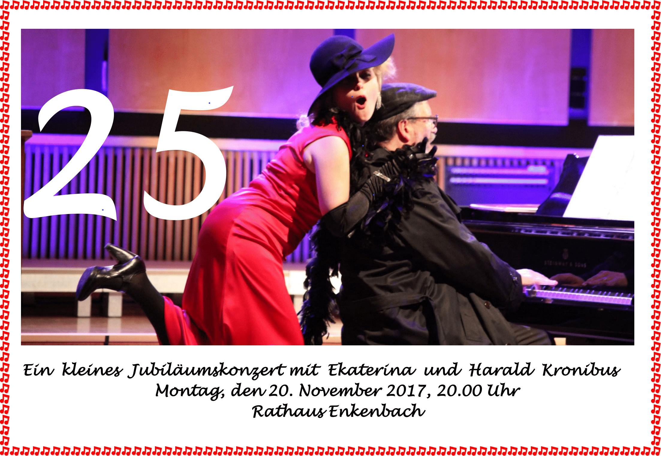 Plakat Ratskonzert mit Ekaterina und Harald Kronibus