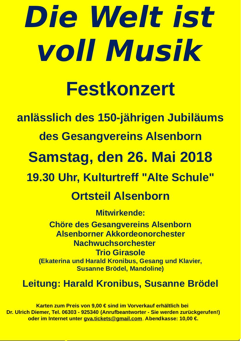 Plakat Festkonzert 150 Jahre