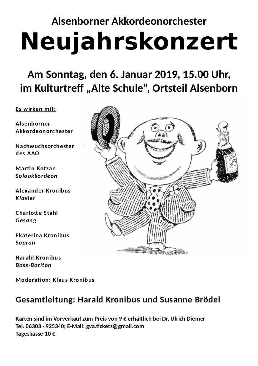 Plakat Neujahrskonzert